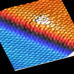 STM image of VC in graphene on Cu(111)